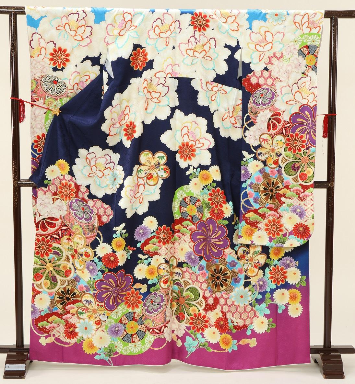 1871 九重×中村里沙 紺地裾ピンク Sサイズ