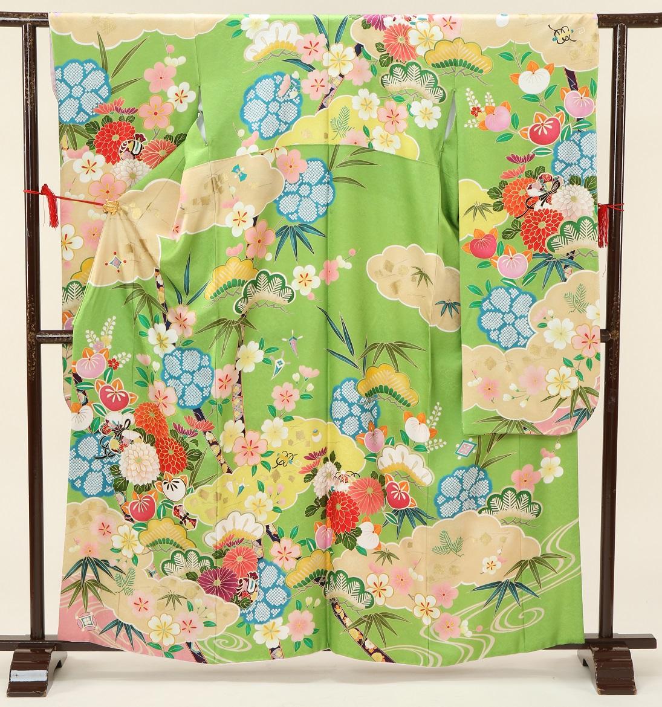 1672 プチブラン ヒワ色裾ピンク Sサイズ