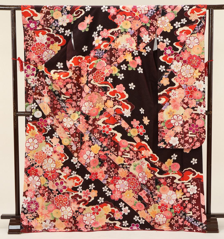 5380 マーベラス ブラン黒地花 Sサイズ