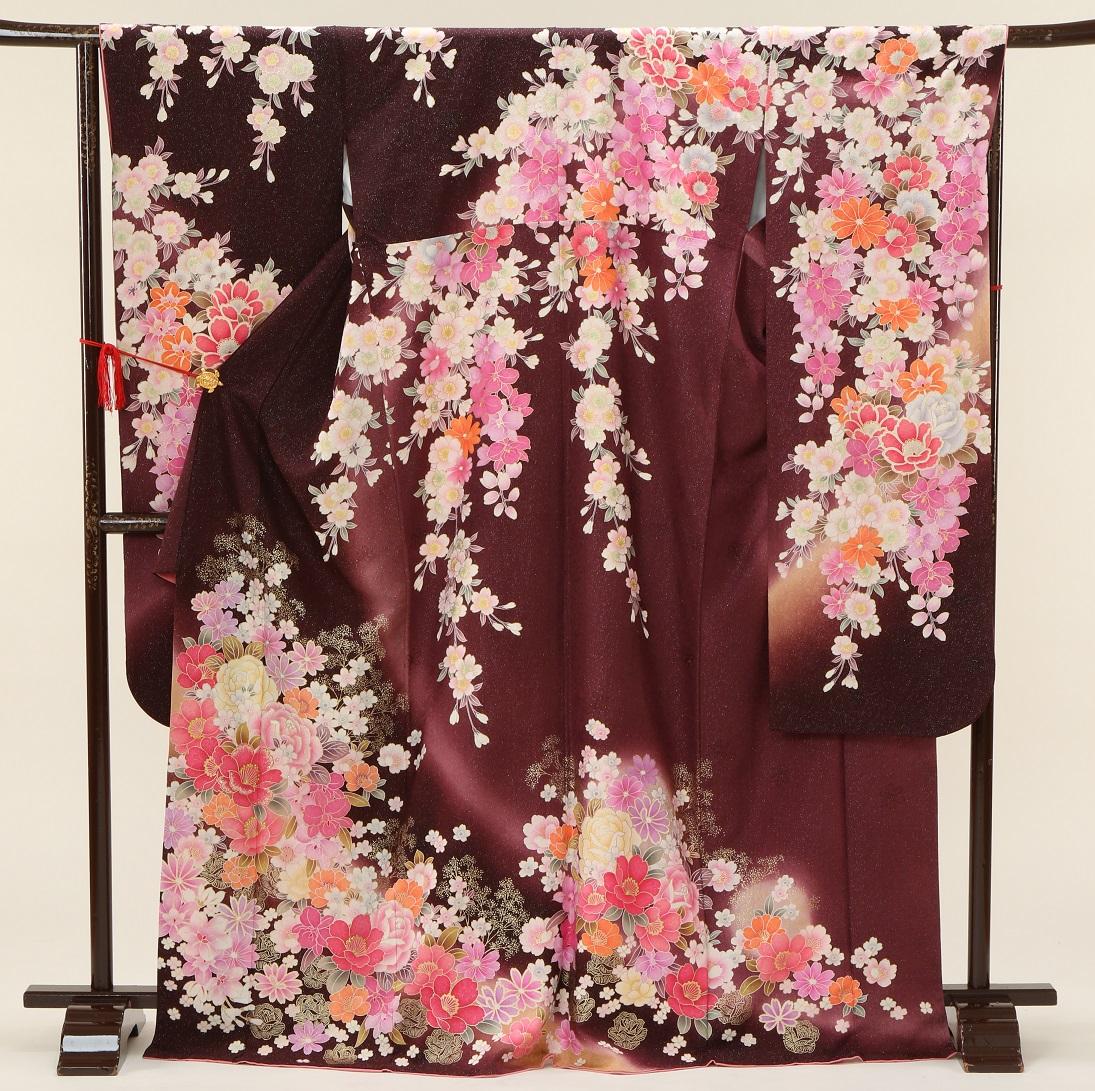 5342 マーベラス ブラウンラメ花 Lサイズ