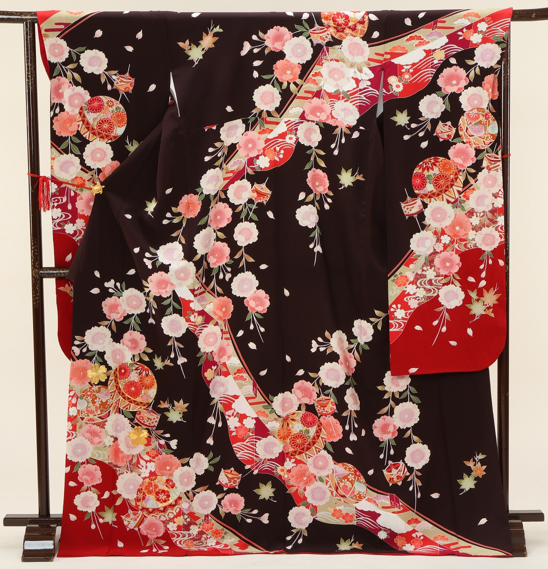 1479 マーベラス ブラウン裾赤 Lサイズ