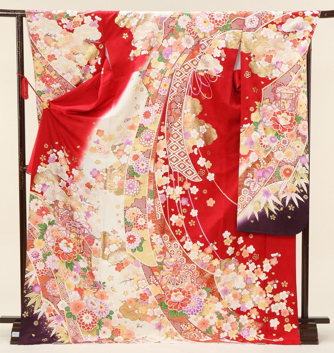1971 赤地裾紫 Lサイズ