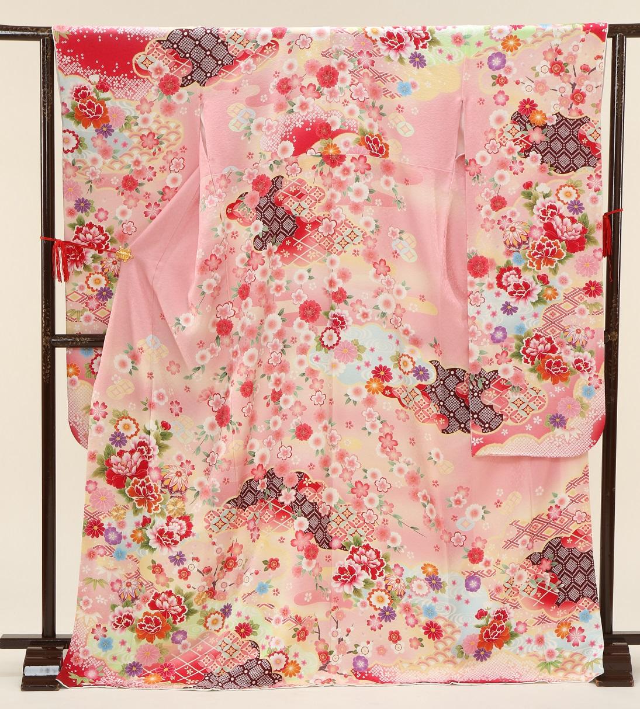 1376 プチブラン 古典柄 ピンク Mサイズ